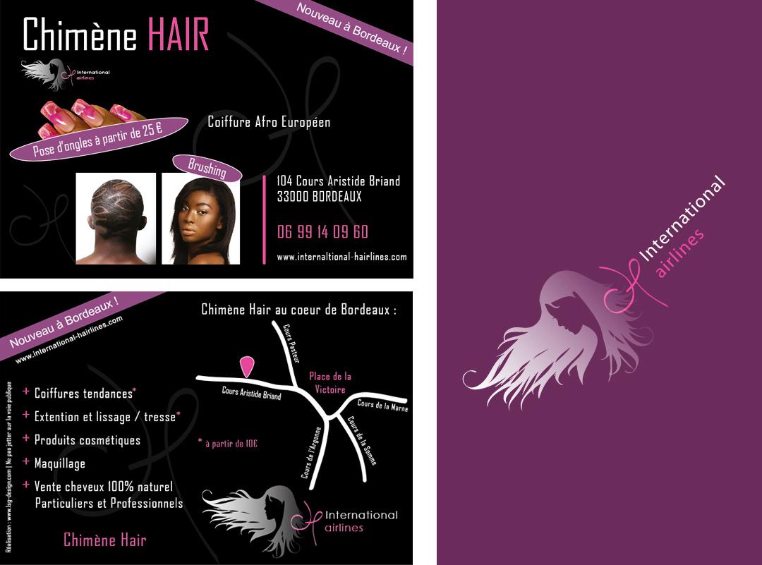 Flyer publicitaire ih lsg design for Salon de coiffure afro bordeaux