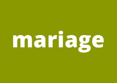 Faire part de mariage